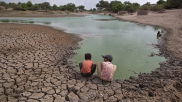 Extreme drought in India.