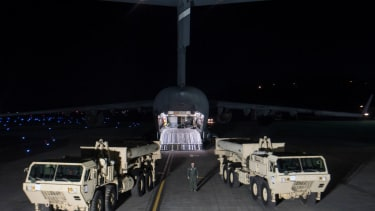 The U.S. deploys the first part of the THAAD missile defense system in South Korea