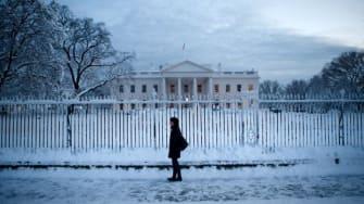 Snowfall in Washington, D.C.