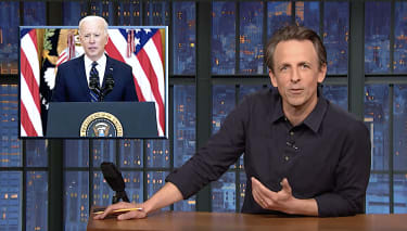 Seth Meyers on Joe Biden