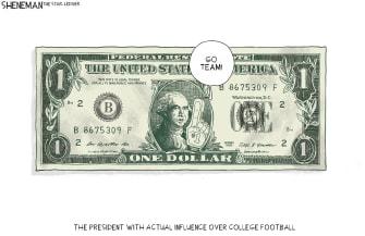 Editorial Cartoon U.S. Big 10 NCAA college football