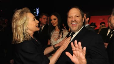 Hillary Clinton and Harvey Weinstein attend the Time 100 Gala in 2012.