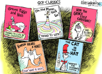 Political Cartoon U.S. gop dr seuss