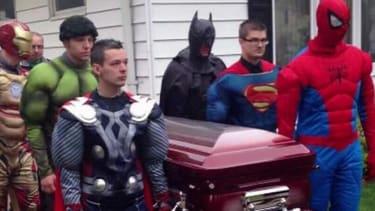 Pallbearers dress as superheroes at heartbreaking funeral for 5-year-old boy