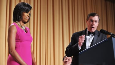 Steve Scully of C-SPAN speaks at the White House Correspondents Association annual dinner on May 9, 2009 at the Washington Hilton hotel in Washington.