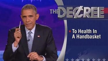 Obama takes over The Colbert Report, cracks ObamaCare jokes