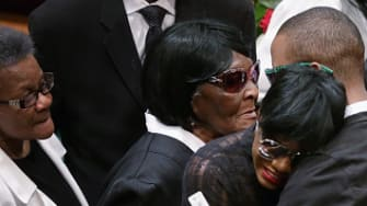 Freddie Gray's family at Gray's funeral.