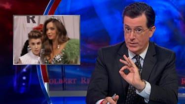 Stephen Colbert gleefully dissects the Orlando Bloom-Justin Bieber gossip war