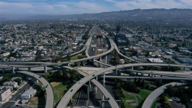 Freeways in Berkeley, California.