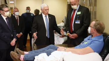 Mike Pence at the Mayo Clinic.
