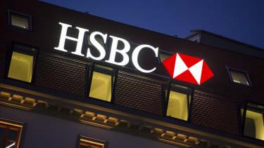The HSBC logo in Switzerland