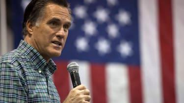 Romney slams the GOP frontrunner.