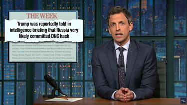 Seth Meyers takes a closer look at Russian hacking of the U.S. election