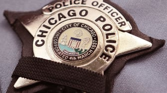 A Chicago police badge