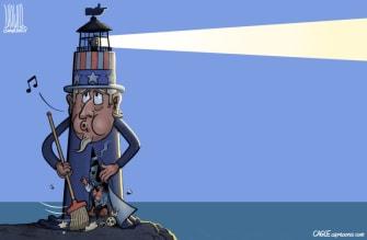 Editorial Cartoon U.S. immigration history