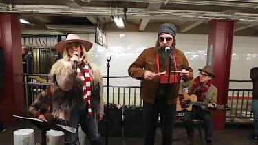 Alanis Morisette and Jimmy Fallon sing