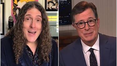 Weird Al and Stephen Colbert