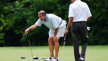 John Boehner golfs with then-President Obama