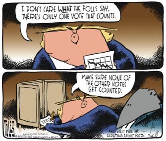 Political Cartoon U.S. Trump election 2020 GOP