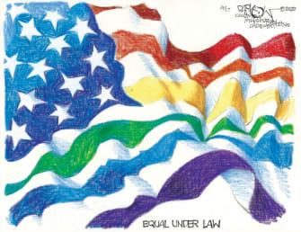 Editorial Cartoon U.S. supreme courtLGBTQ rights