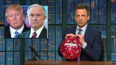 Seth Meyers explains Jeff Sessions Russia problem