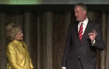 Two Democrats share an awkward moment.