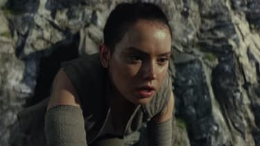 Rey in the first trailer for 'Star Wars: The Last Jedi'