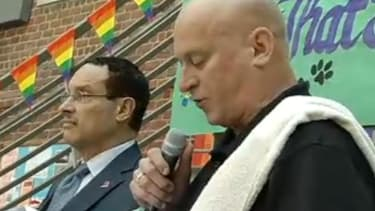 High school principal comes out to his students during a Pride Day speech