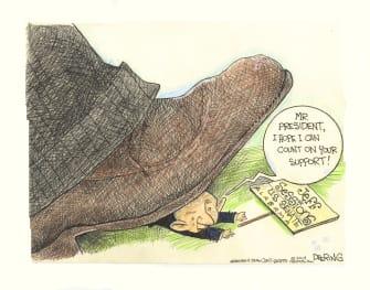 Political Cartoon U.S. Jeff Sessions Trump Support
