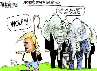 Political Cartoon U.S. trump gop lies