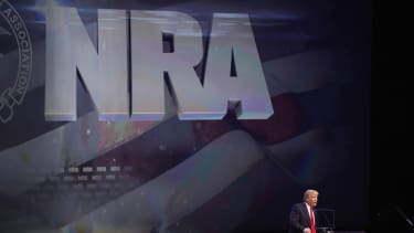 Donald Trump at an NRA event.