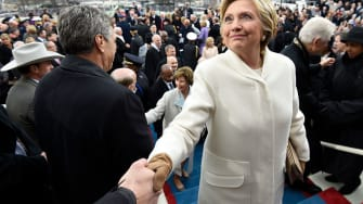 Hillary Clinton at President Trump's inauguration