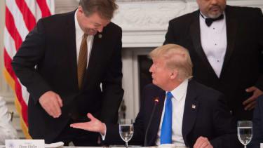 President Trump and Senator Dean Heller.