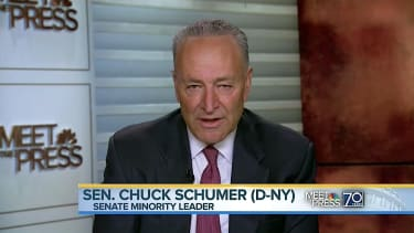 """Chuck Schumer says President Trump """"is in trouble:"""