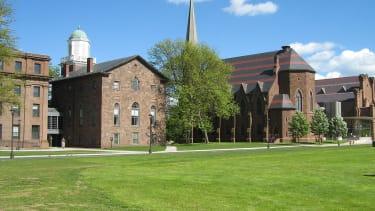 Wesleyan University's College Row.