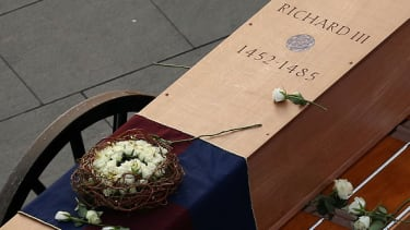 King Richard III's coffin.