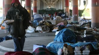 Homeless people.