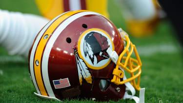 Washington Redskins helmet.