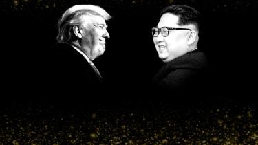 President Trump and Kim Jong Un.