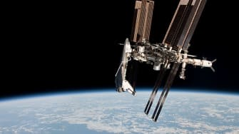 The International Space Station reaches milestone.