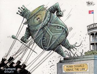 Political Cartoon U.S. Trump supreme court