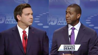 Andrew Gillum and Ron DeSantis square off in gubernatorial debate