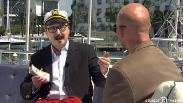 Daily Show 'deranged millionaire' John Hodgman has fun with offshore banking