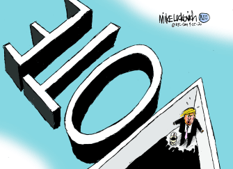Political Cartoon U.S. Trump 2020 vote