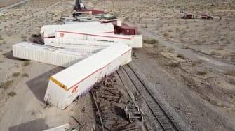 A train derailment.