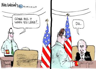 Political Cartoon U.S. Putin Trump presidency