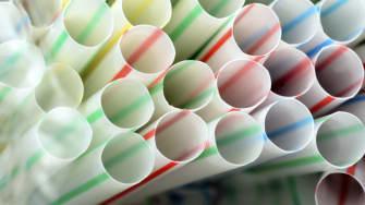 Plastic straws.