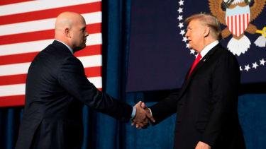 Matthew Whitaker and Donald Trump.