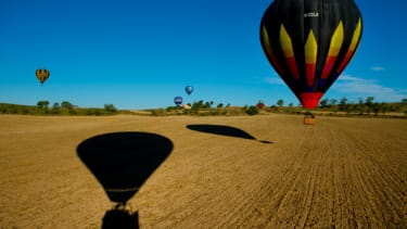 Take a look at these gorgeous hot air balloons at the European Balloon Festival