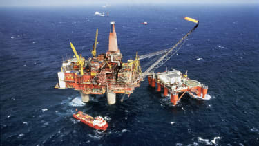 An oil drilling rig
